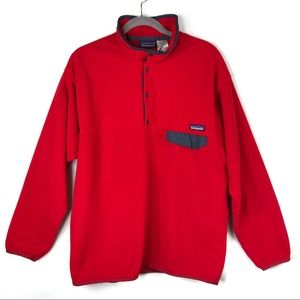 Patagonia | Men's Red Synchilla T-Snap Fleece XL